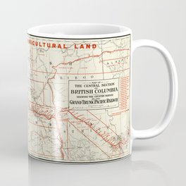 British Columbia Railway Map Coffee Mug