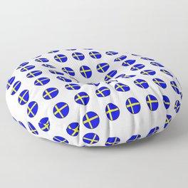 flag of sweden 3 Swedish,Sverige,Swede,Stockholm,Scandinavia,viking,bergman, strindberg Floor Pillow