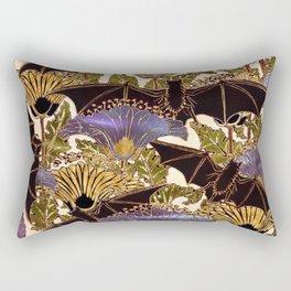 Art Nouveau Bats Variation Rectangular Pillow