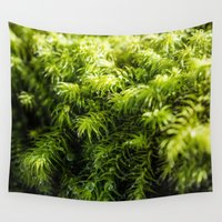 moss Wall Tapestries featuring Moss by Michelle McConnell