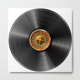 Roulette Casino Vinyl Record Metal Print