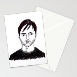 Biro Drawing of Tobey Maguire Stationery Cards