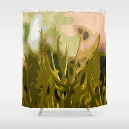 Alien Plant Life Shower Curtain