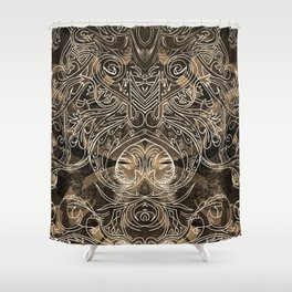 Tracery Mantis Shower Curtain