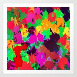 Petal Party Color Slapped Art Print
