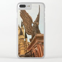Hogwarts entrance boar Clear iPhone Case