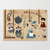 wonderland Canvas Prints featuring Wonderland by Liam Smith