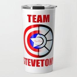 "Team SteveTony - ""Together."" Travel Mug"
