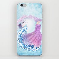 the last unicorn iPhone & iPod Skins featuring Last Unicorn by Roots-Love