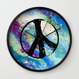 Peace and pouring Wall Clock