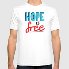 Free Hope SMALL White Mens Fitted Tee