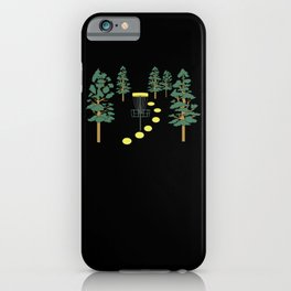 Disc Golf Stupid Trees Woods Men Women Court Gift iPhone Case