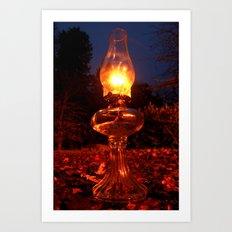 Autumn lamp Art Print