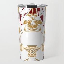 Skeleton Treasure Emo Gold Blood Cowl Dark Gift Travel Mug