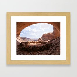 False Kiva, Utah Framed Art Print