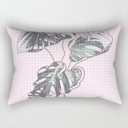 checkered leaf Rectangular Pillow