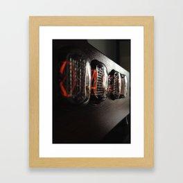 Nixie clock Framed Art Print