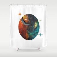 night sky Shower Curtains featuring Night Sky by JDHicks