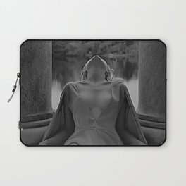In another time and space female portrait black and white photograph / art photography Laptop Sleeve