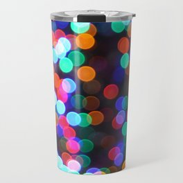 a bokeh christmas Travel Mug