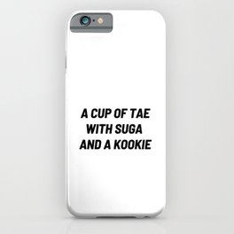 A cup of Tae with Suga and a Kookie, BTS Jungkook, BTS V, BTS Suga iPhone Case
