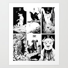 Tarot 0-5 Art Print