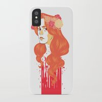 black widow iPhone & iPod Cases featuring Widow by barbitone