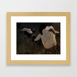 Silent Lake Framed Art Print
