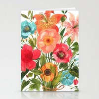 oana befort Stationery Cards featuring BOUQUET by Oana Befort