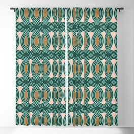 celtic ogee Forest Blackout Curtain