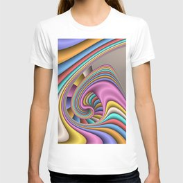 fluid and colorful pattern -2- T-shirt