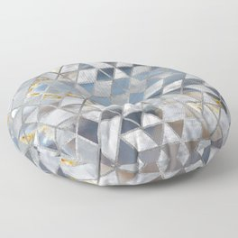 Geometric Translucent Agate and Mother of pearl Floor Pillow