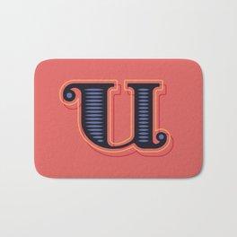 Alphabet Drop Caps Series- U Bath Mat