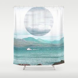 Throwing Seaweed Shower Curtain