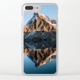Calm Mountain Lake at Sunset - Landscape Photography Clear iPhone Case