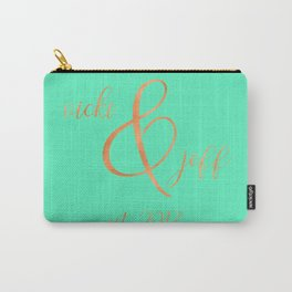 Vicki and Jeff - Mint and Rose Gold - Newlyweds Carry-All Pouch