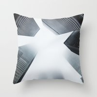 cityscape Throw Pillows featuring Cityscape by General Design Studio