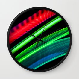 Colorful bands of light Wall Clock