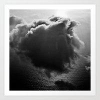 Single drifting cloud Art Print