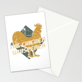 """Chick Lover? Here's a cute t-shirt design with a cute silhouette of Hen """"The Chicken Whisperer"""" Stationery Cards"""