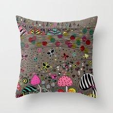 Mushroom Hill Throw Pillow
