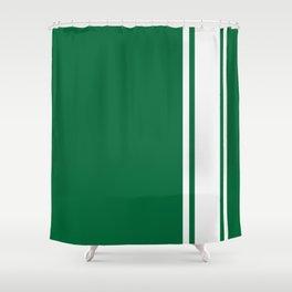 Green Racer Shower Curtain