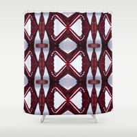 positive Shower Curtains featuring B-Positive by misscrocodile63/drawings/photo/paintings