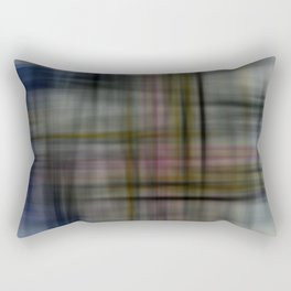 Deconstructed Abstract Scottish Plaid Pattern Rectangular Pillow
