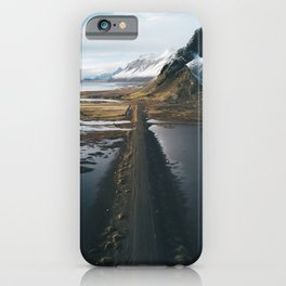 Mountain road in Iceland - Landscape Photography iPhone Case