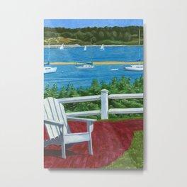 Adirondack Chair on Cape Cod Metal Print