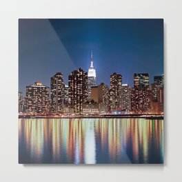 The reflection of a big city - NYC Metal Print