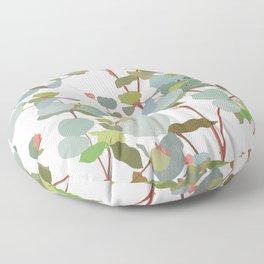 eucalyptus sprig Floor Pillow