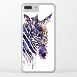 Zebra Head Clear iPhone Case