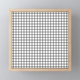 Black and White Grid Graph Framed Mini Art Print